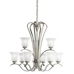 Kichler Lighting 10741NI Chandelier 9Lt Fluorescent