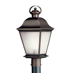Kichler Lighting 10911OZ Outdoor Post Mt 1Lt FL