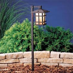 Kichler Lighting 15232AGZ Path & Spread 1-Lt 120V