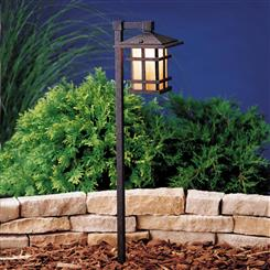 Kichler Lighting 15322AGZ Path & Spread 1-Lt 12V
