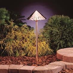 Kichler Lighting 15843CO27 LED Hammered Roof Path