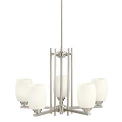 Kichler Lighting 1896NI Eileen™ 5 Light Chandelier Brushed Nickel
