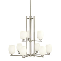 Kichler Lighting 1897NI Eileen™ 9 Light Chandelier Brushed Nickel