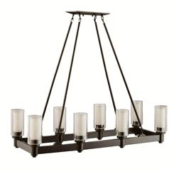 Kichler Lighting 2943OZ Linear Chandelier 8Lt