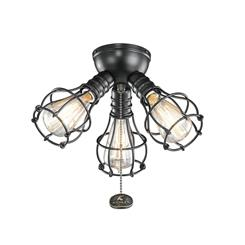 Kichler Lighting 370041SBK Industrial 3 Light Fixture