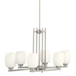 Kichler Lighting 3898NI  Eileen™ 6 Light Chandelier Brushed Nickel