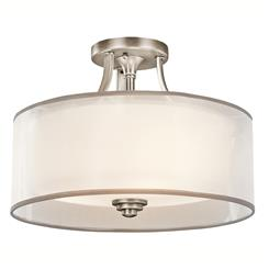Kichler Lighting 42386AP Semi Flush 3Lt