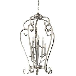 Kichler Lighting 43166NI Foyer Chandelier 8Lt