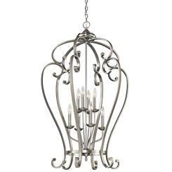 Kichler Lighting 43167NI Foyer Chandelier 8Lt