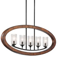 Kichler Lighting 43186AUB Linear Chandelier 5Lt