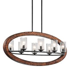 Kichler Lighting 43191AUB Linear Chandelier 8Lt