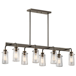 Kichler Lighting 43457OZ Linear Chandelier 8Lt
