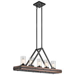 Kichler Lighting 43491AUB Linear Chandelier 8Lt