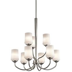 Kichler Lighting 43666NI Chandelier 9Lt