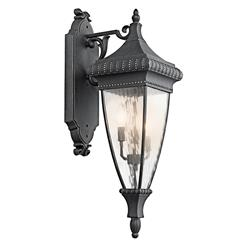 Kichler Lighting 49132BKG Outdoor Wall 3Lt