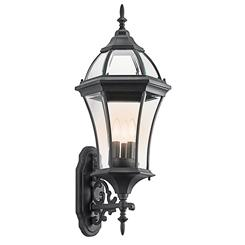 Kichler Lighting 49185BK Outdoor Wall 3Lt
