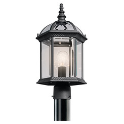 Kichler Lighting 49187BK Outdoor Post Mt 1Lt