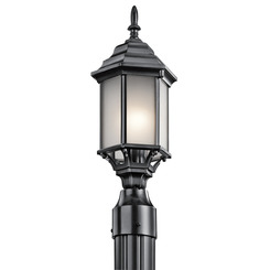 Kichler Lighting 49256BKS Outdoor Post Mt. 1Lt