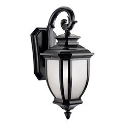 "Kichler Lighting 9040BK Salisbury™ 19.5"" 1 Light Wall Light Black"