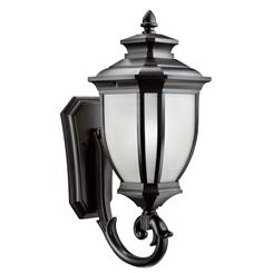 "Kichler Lighting 9042BK Salisibury 24.25"" 1 Light Wall Light Black"