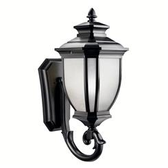 "Kichler Lighting 9043BK Salisbury™ 29"" 1 Light Wall Light Black"