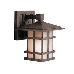 "Kichler Lighting 9128AGZ Cross Creek™ 8.5"" 1 Light Wall Light Aged Bronze"