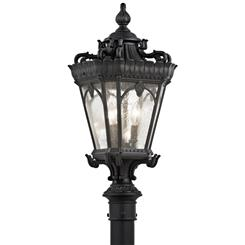 Kichler Lighting 9558BKT Outdoor Post Mt 3Lt