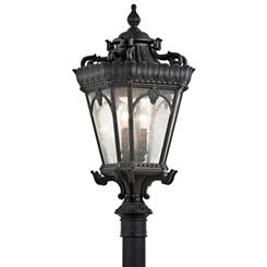 Kichler Lighting 9559BKT Outdoor Post Mt 4Lt