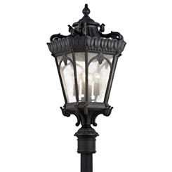 Kichler Lighting 9565BKT Outdoor Post Mt 4Lt