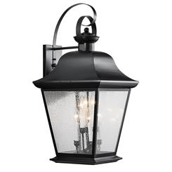 Kichler Lighting 9703BK Outdoor Wall 6Lt