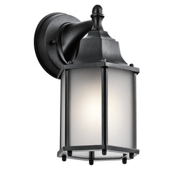 Kichler Lighting 9774BKS Outdoor Wall 1Lt