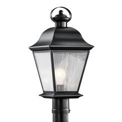 Kichler Lighting 9909BK Outdoor Post Mt 1Lt