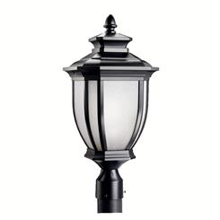 Kichler Lighting 9938BK Outdoor Post Mt 1Lt