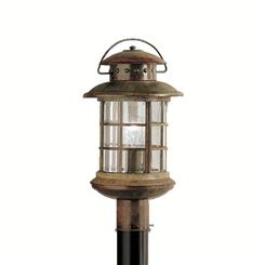 Kichler Lighting 9962RST Outdoor Post Mt 1Lt