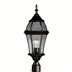 Kichler Lighting 9992BK Outdoor Post Mt 1Lt