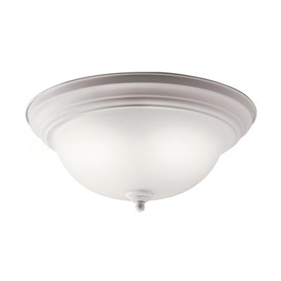 Kichler Lighting 10836WH Flush Mount 2Lt Fluorescent