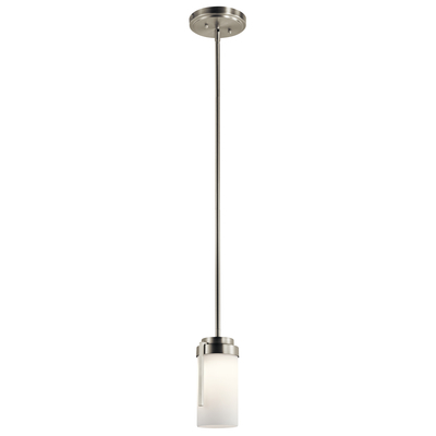 "Kichler Lighting 11305NILED 4.5"" 1 Light LED Mini Pendant Brushed Nickel"