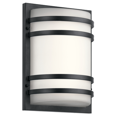 "Kichler Lighting 11320BKTLED 13"" LED Wall Light Textured Black"