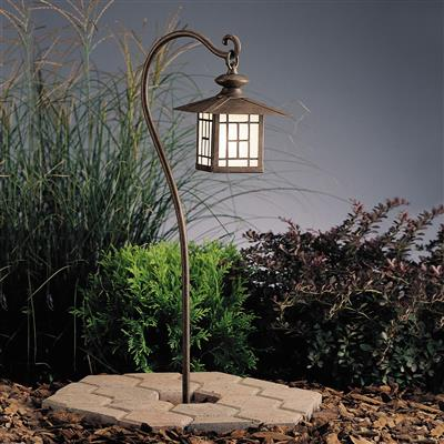 Kichler Lighting 15319PZ Mission Lantern 12V Path Light - Patina Bronze