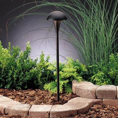 Kichler Lighting 15323BKT Path & Spread 1-Lt 12V