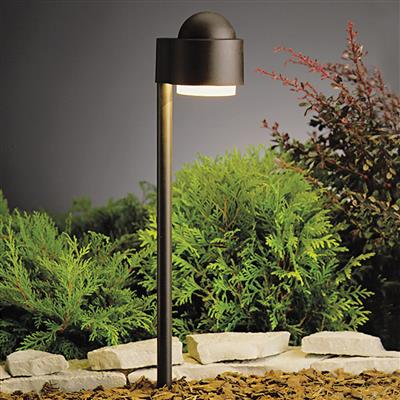 Kichler Lighting 15360AZT Simplicity Side Mount 12V Path Light Textured Architectural Bronze