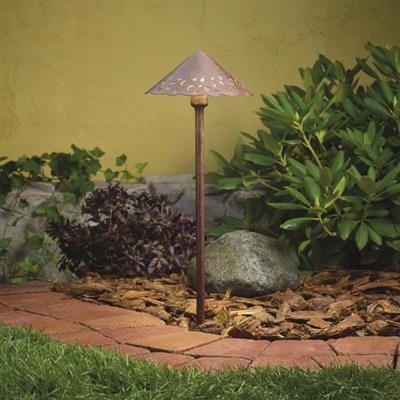 Kichler Lighting 15871TZT Cast Hammered Roof 3000K LED Textured Tannery Bronze