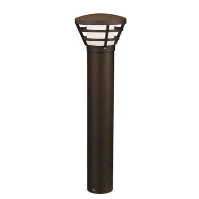 Kichler Lighting 16133AZT28 UFO 2800K LED Bollard Textured Architectural Bronze