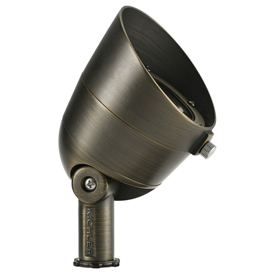 Kichler Lighting 16155CBR30 3000K 300 Lumen 60 Degree Wide Flood Centennial Brass