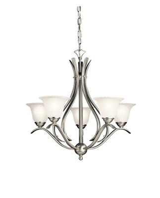 Kichler Lighting 2020NI Dover™ 5 Light Chandelier Brushed Nickel