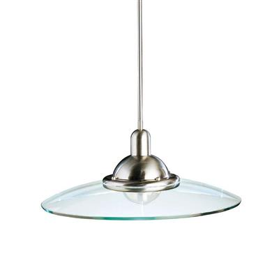"Kichler Lighting 2640NI Galaxie™ 22.5"" 1 Light Mini Pendant Brushed Nickel"