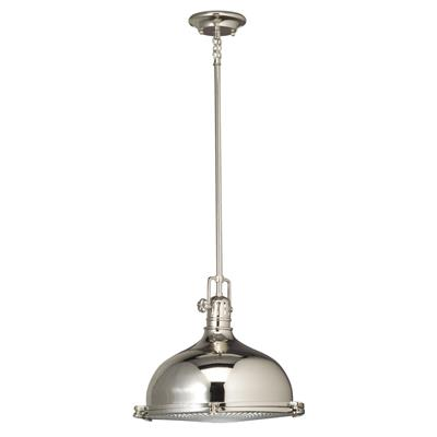 "Kichler Lighting 2666PN Hatteras Bay™ 13"" 1 Light Pendant Polished Nicke"
