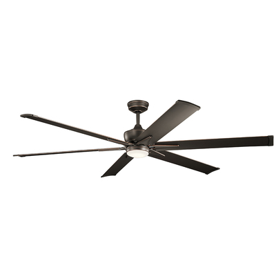 "Kichler Lighting 300301OZ Szeplo™ II LED 80"" Fan Olde Bronze"
