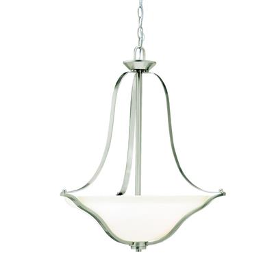 Kichler Lighting 3384NI Langford™ 3 Light Inverted Pendant Brushed Nickel