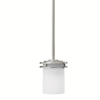 "Kichler Lighting 3475NI Hendrik™ 7.5"" 1 Light Mini Pendant with Satin Etched Cased Opal Glass Brushed Nickel"